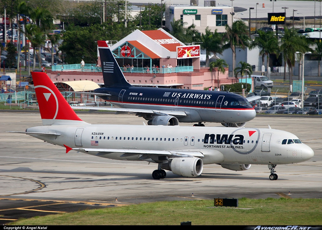 N344NW - Airbus A320-212 - Northwest Airlines