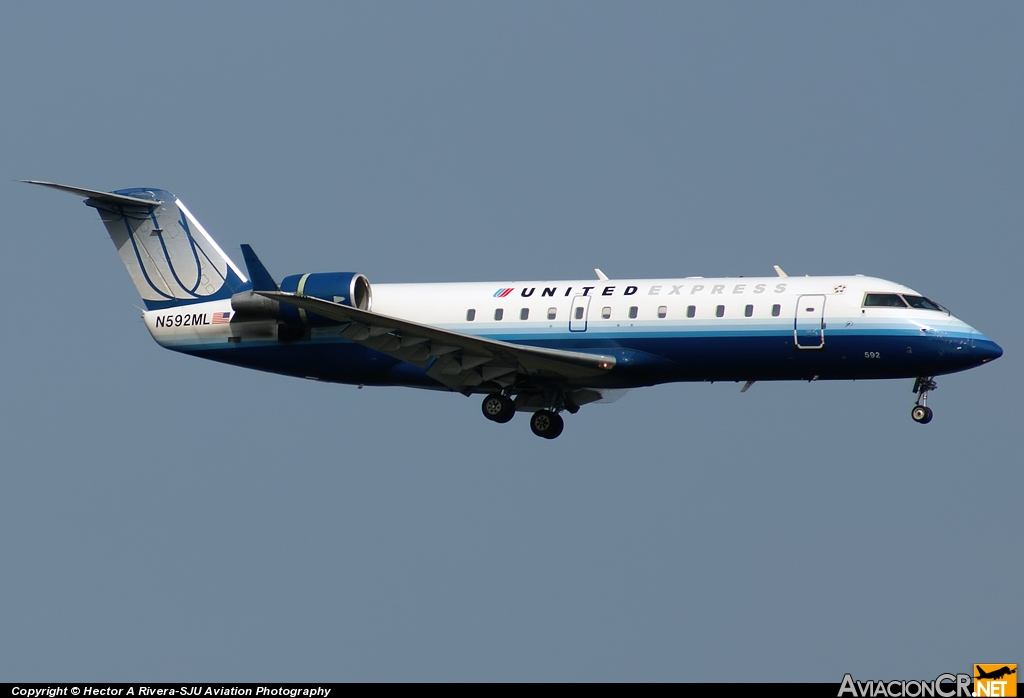N593ML - Canadair CL-600-2B19 Regional Jet CRJ-200LR - United Express (Mesa Airlines)