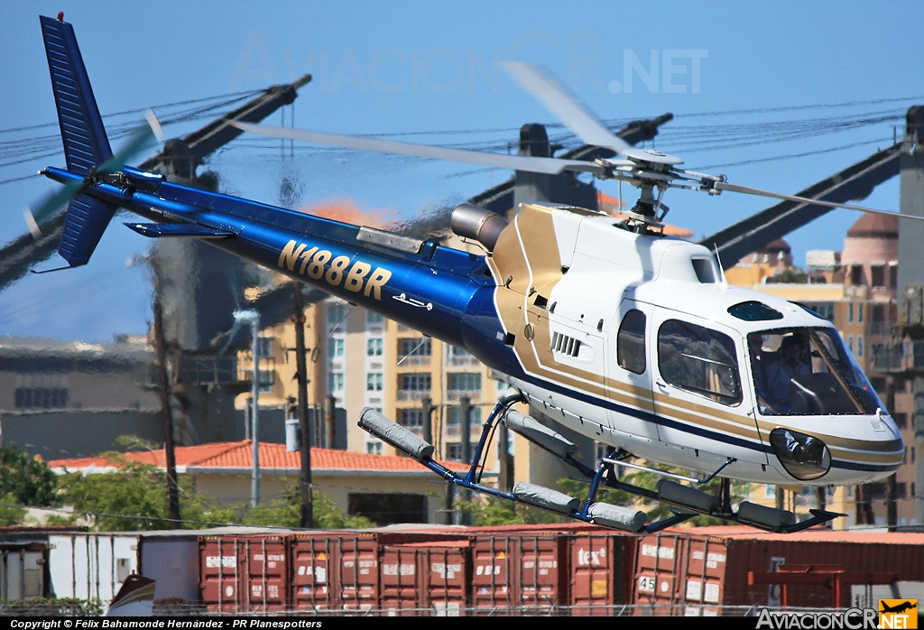 N188BR - Aerospatiale AS 350B-3 Ecureuil - Betteroads Asphalt