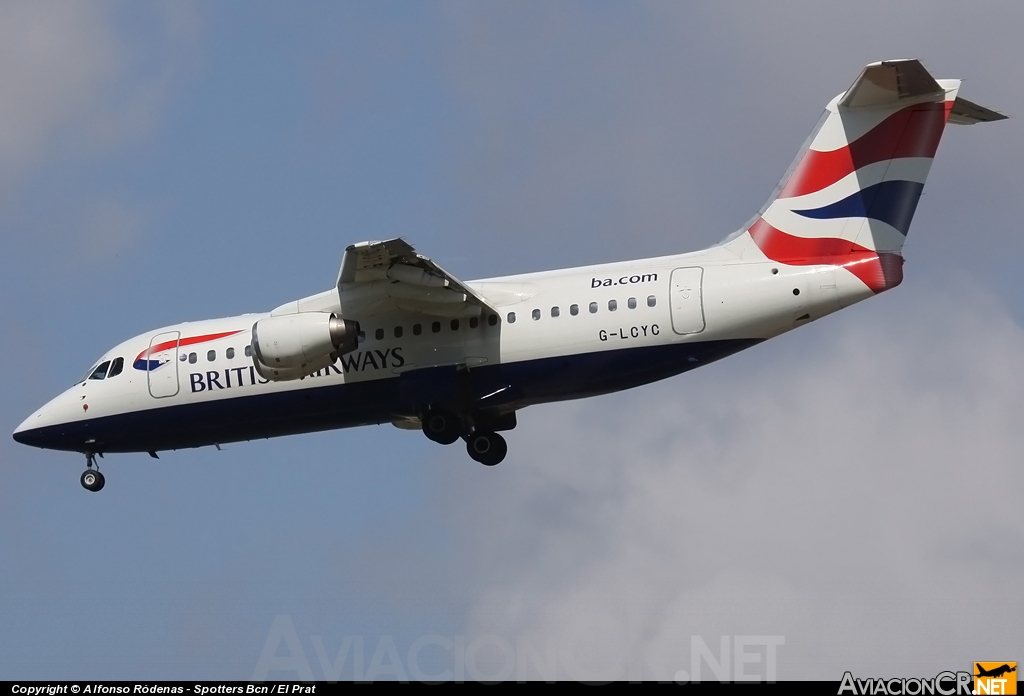 G-LCYC - British Aerospace Avro 146-RJ85 - British Airways
