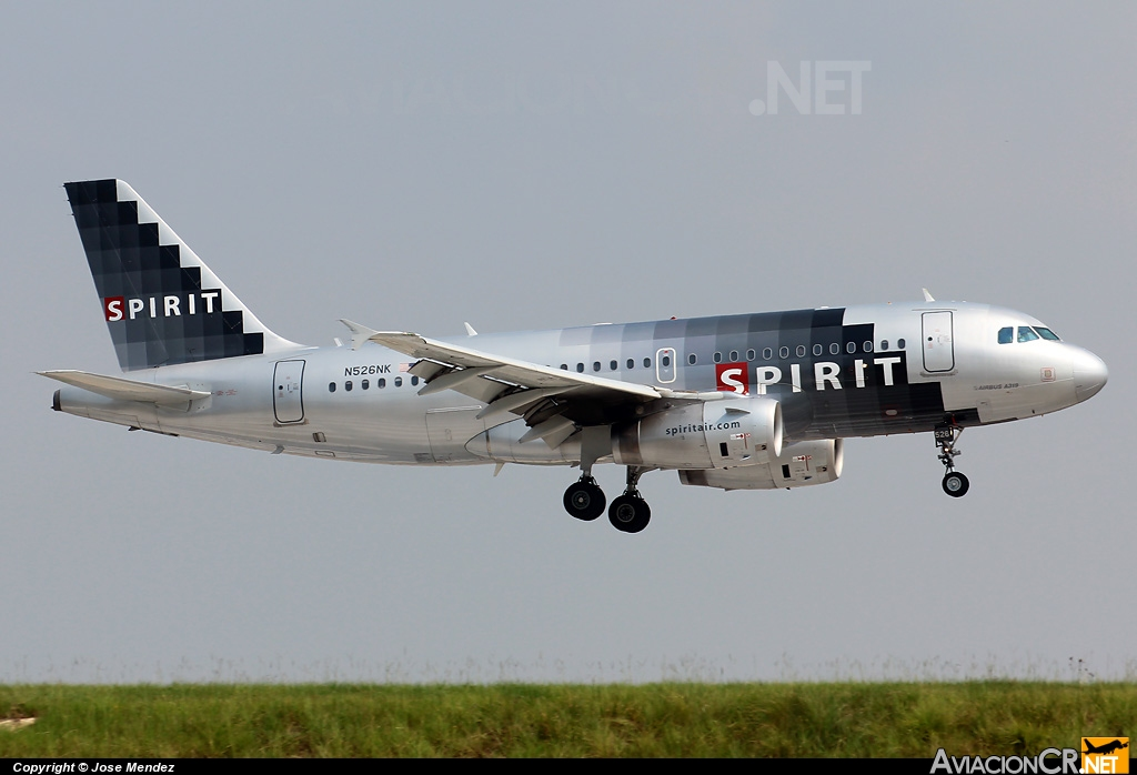 N526NK - Airbus A319-132 - Spirit Airlines