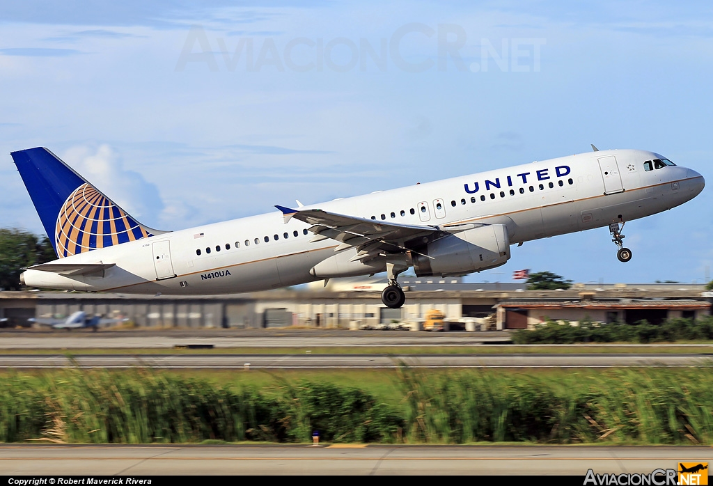 N410UA - Airbus A320-212 - United Airlines