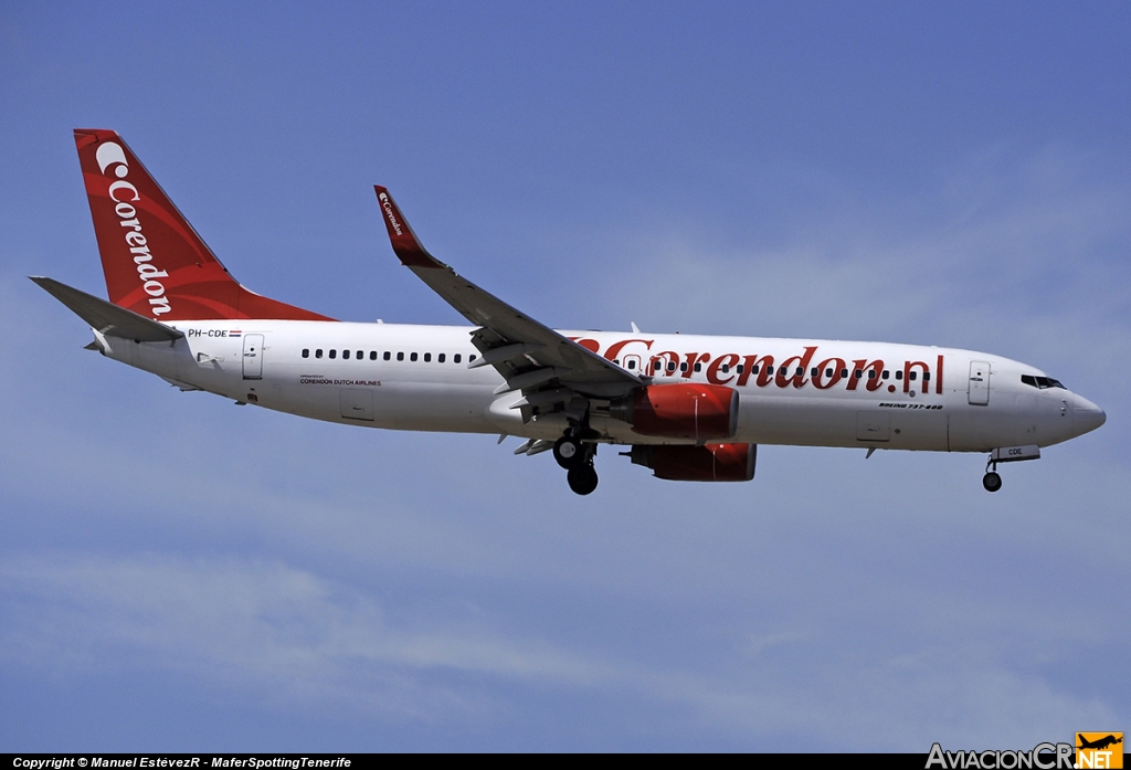 PH-CDE - Boeing 737-8KN - Corendon Dutch Airlines