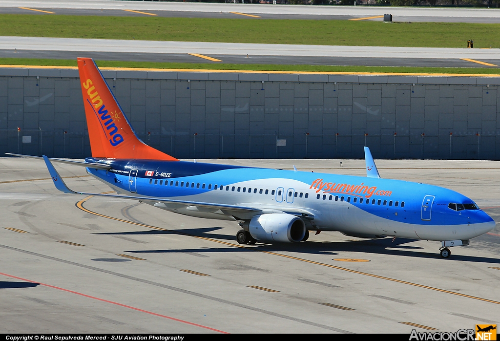 C-GDZE - Boeing 737-8K5 - Sunwing Airlines