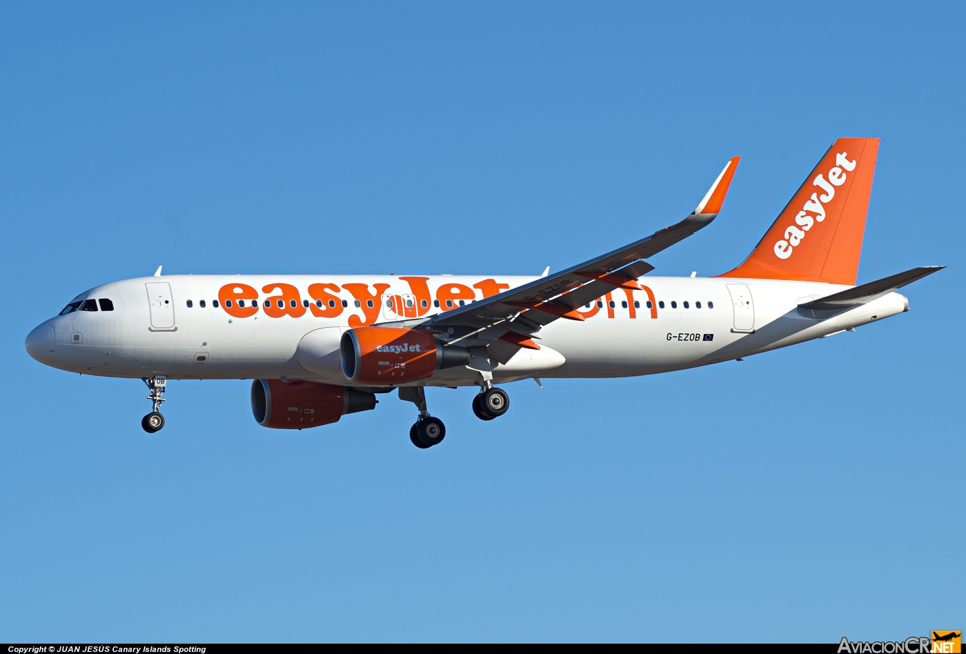 G-EZOB - Airbus A320-214 - EasyJet Airlines