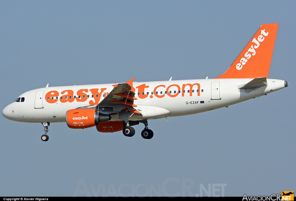 G-EZAF - Airbus A319-111 - EasyJet Airlines