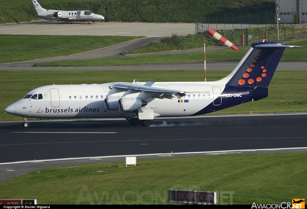 OO-DWC - British Aerospace Avro 146-RJ100 - SN Brussels Airlines
