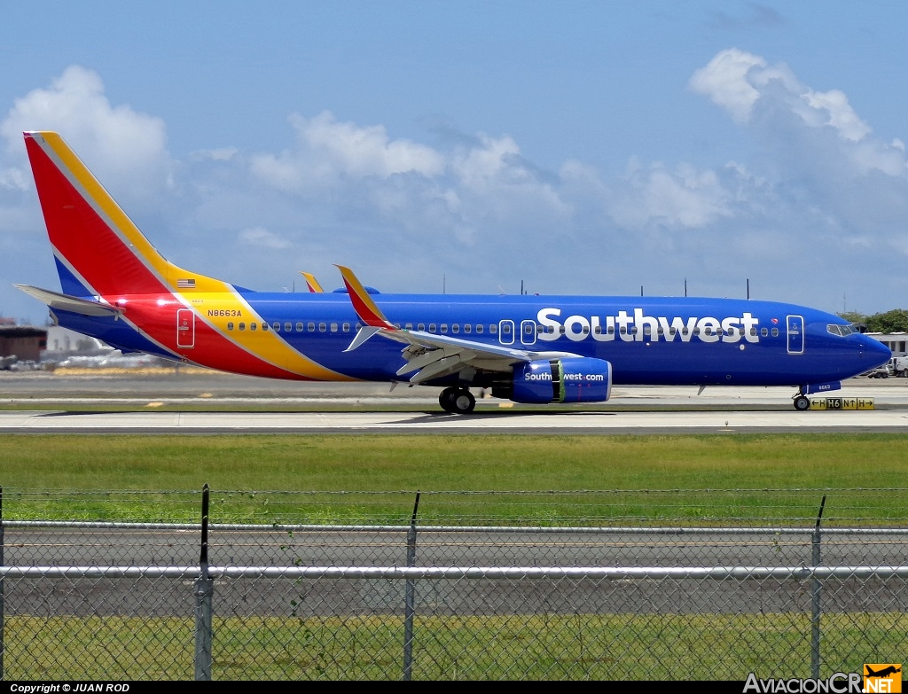 N8663A - Boeing 737-8H4 (WL) - Southwest Airlines
