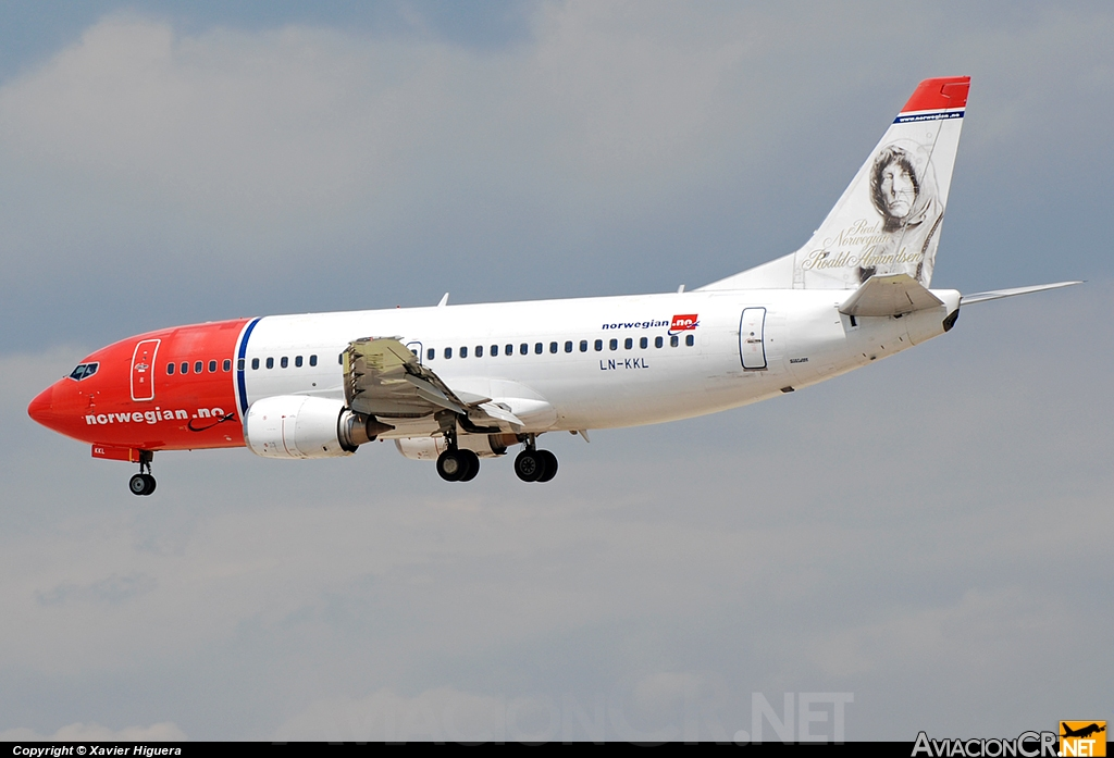 LN-KKL - Boeing 737-36N - Norwegian Air Shuttle