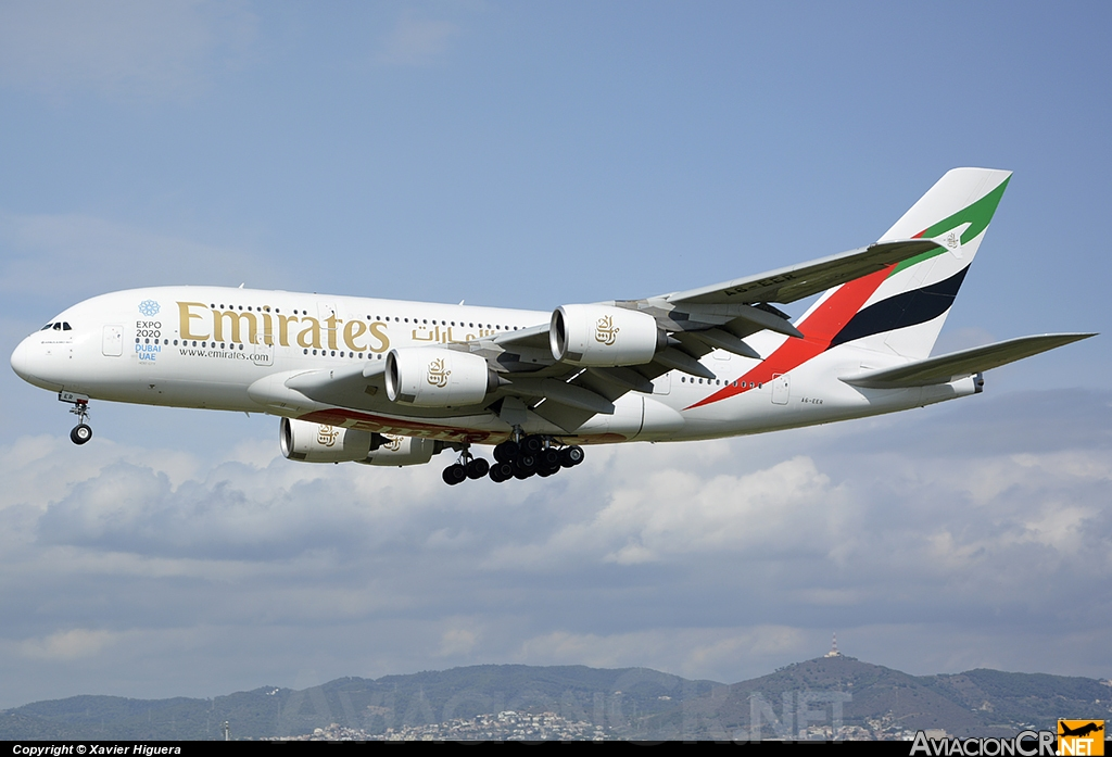 A6-EER - Airbus	A-380-861 - Emirates